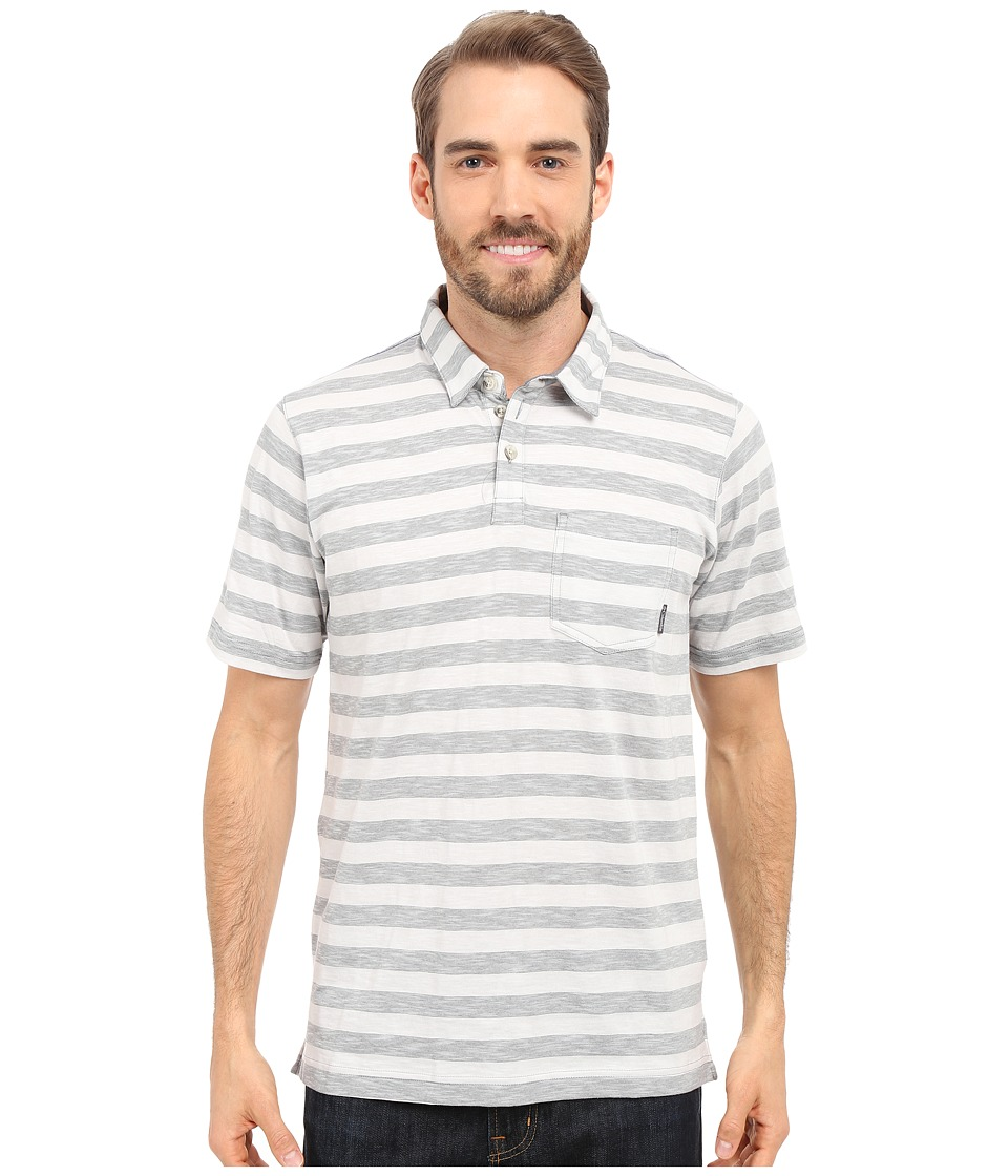 Columbia - Lookout Point Polo (Grey Ash Stripe) Men's Short Sleeve Pullover