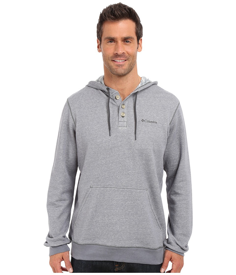 Columbia - Rugged Waters Hoodie (Grey Ash/Grey Ash Stripe Lining) Men's Sweatshirt