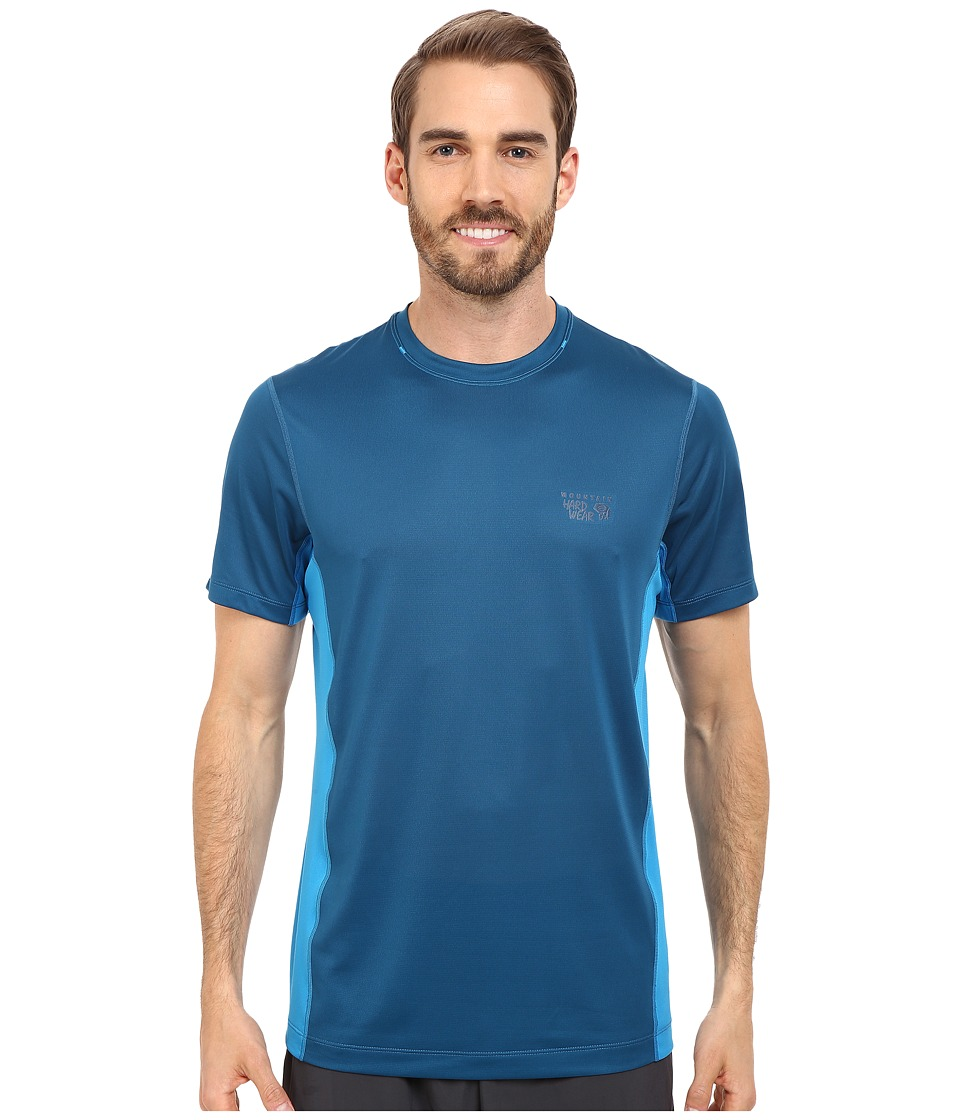 Mountain Hardwear - Wicked Lite S/S Tee (Phoenix Blue/Dark Compass) Men's Short Sleeve Pullover