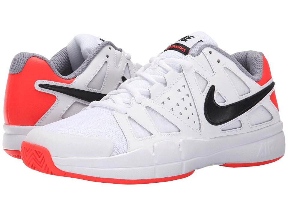 Nike - Air Vapor Advantage (White/Bright Crimson/Stealth/Black) Men's Tennis Shoes