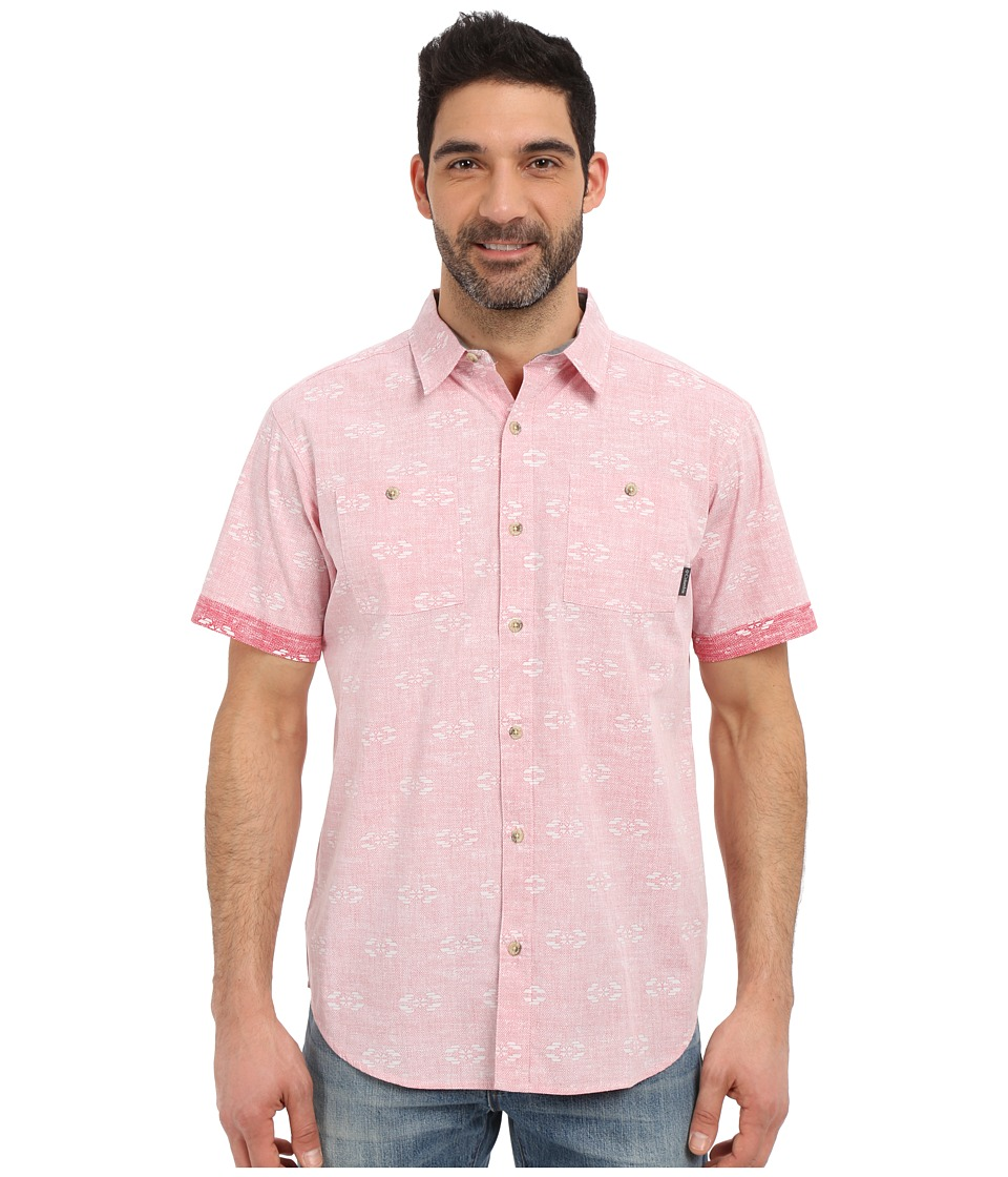 Columbia - Dyer Cove Short Sleeve Shirt (Sunset Red Navajolka Print) Men's Short Sleeve Button Up