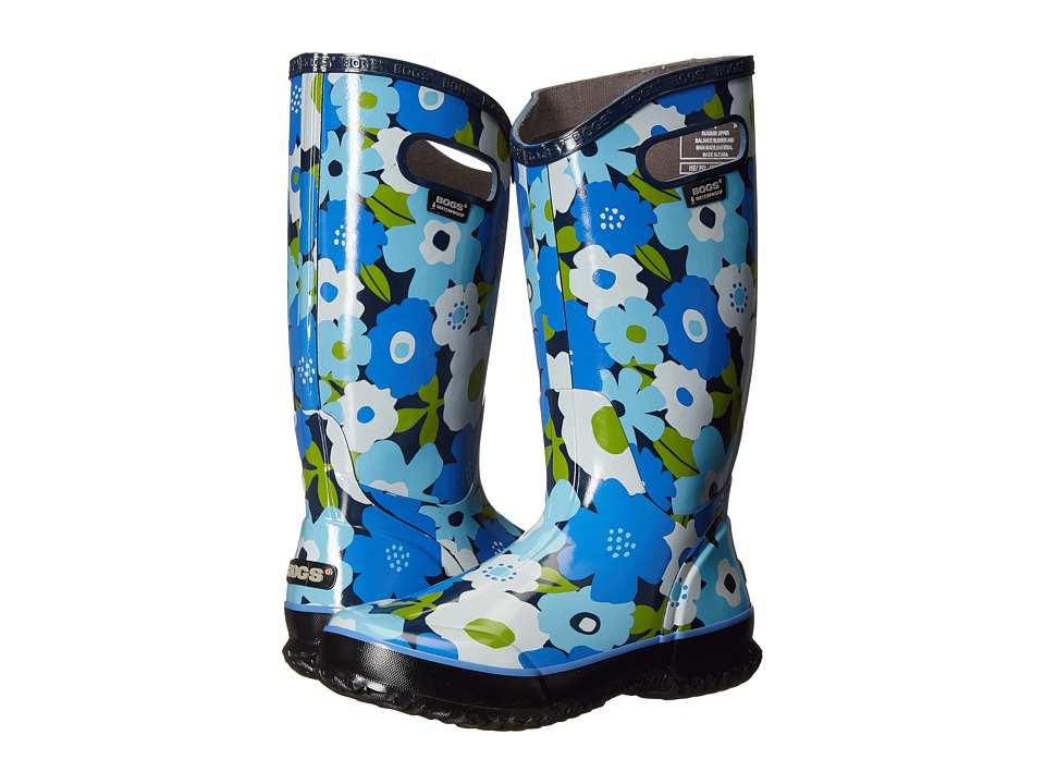 Bogs Spring Flowers Rain Boot (Navy Multi) Women