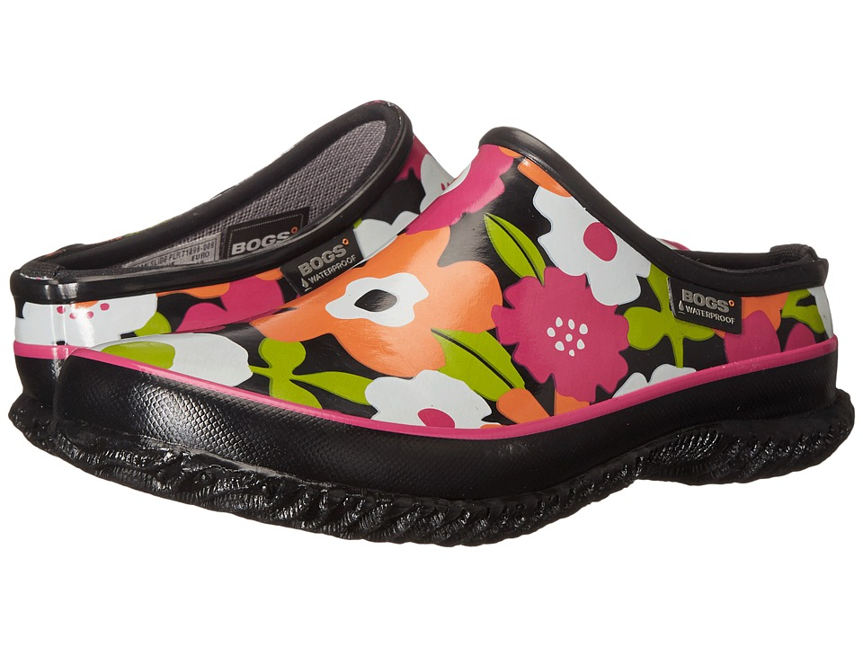 Bogs - Spring Flowers Slide (Black Multi) Women's Slip on Shoes