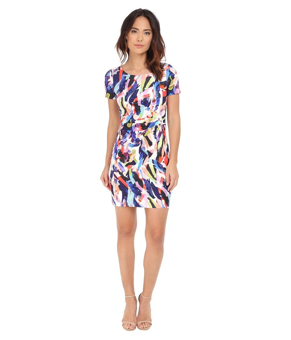 NYDJ - Gabriella Printed Crepe Dress (Lazuli Strokes Print) Women's Dress