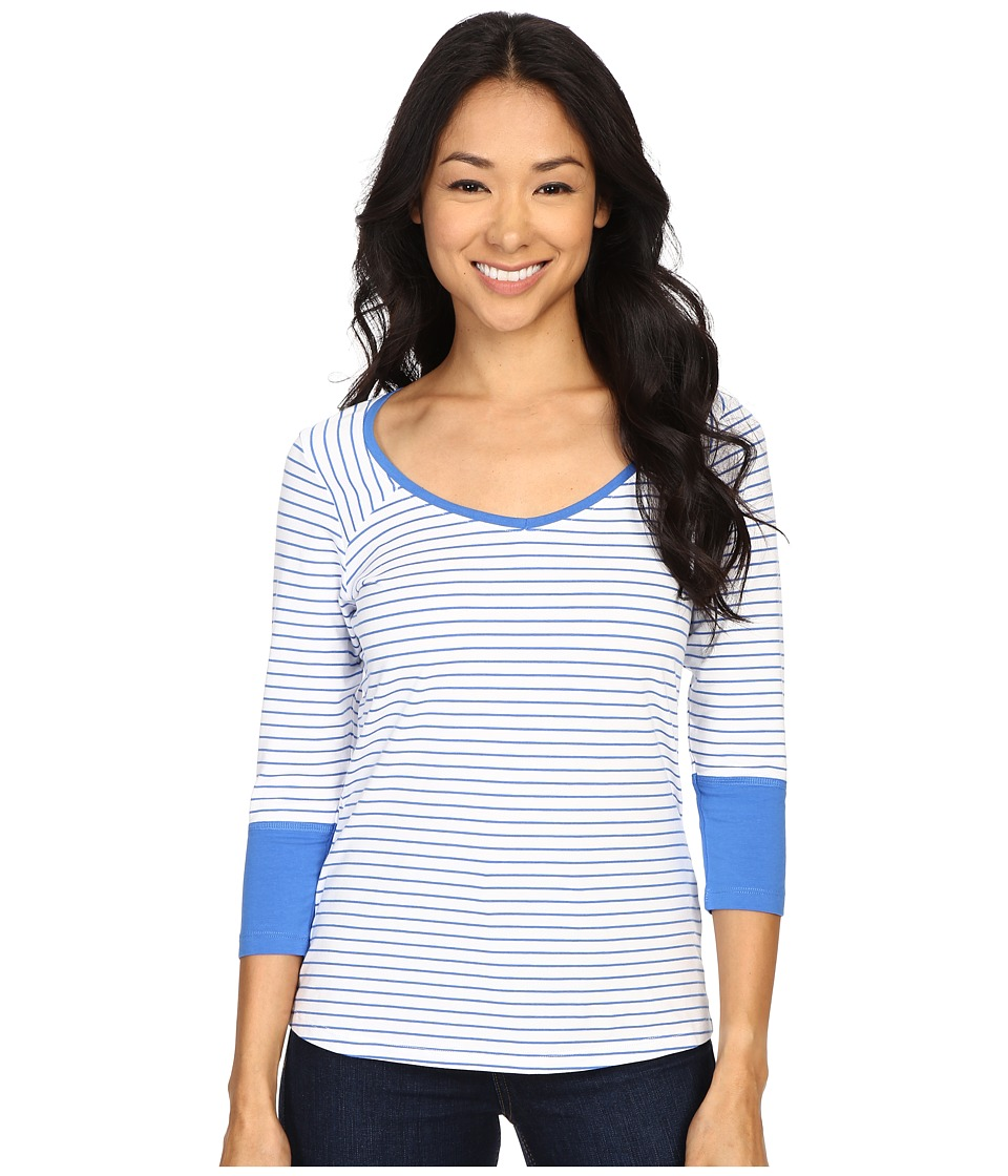 Columbia - Reel Beauty III 3/4 Sleeve Shirt (Stormy Blue Mini Stripe) Women's Long Sleeve Pullover