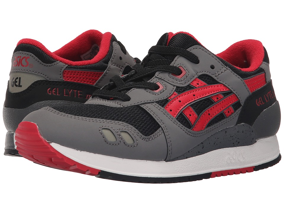 Onitsuka Tiger Kids by Asics - Gel-Lyte III PS (Little Kid) (Black/Red) Boy's Shoes