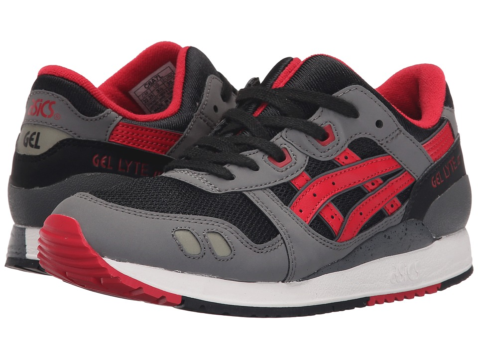 Onitsuka Tiger Kids by Asics - Gel-Lyte III GS (Big Kid) (Black/Red) Boy's Shoes