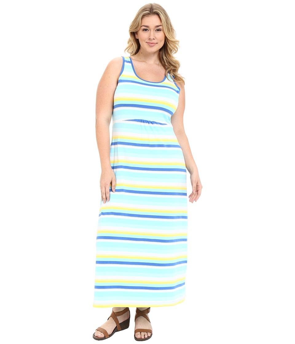 Columbia - Plus Size Reel Beautytm II Maxi Dress (Coastal Blue Multi Stripe) Women's Dress plus size,  plus size fashion plus size appare