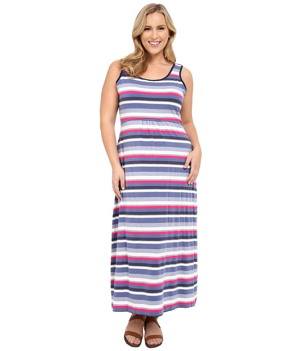 Columbia - Plus Size Reel Beauty II Maxi Dress (Bluebell Multi Stripe) Women's Dress