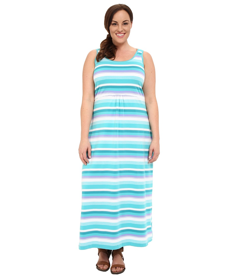 Columbia - Plus Size Reel Beauty II Maxi Dress (Miami Multi Stripe) Women's Dress