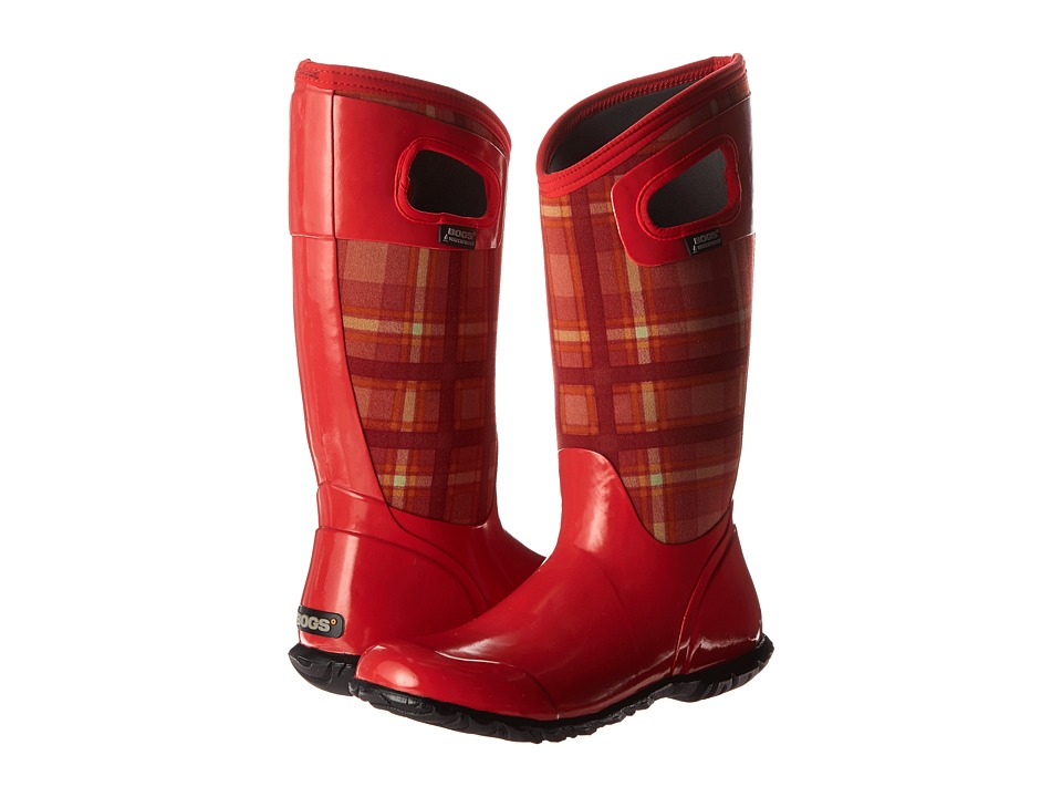 Bogs - North Hampton Plaid (Red Multi) Women's Rain Boots