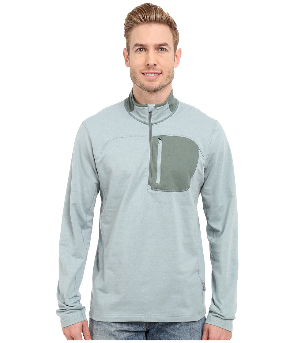 Mountain Hardwear - Cragger 1/2 Zip Top (Ice Shadow) Men's Long Sleeve Pullover