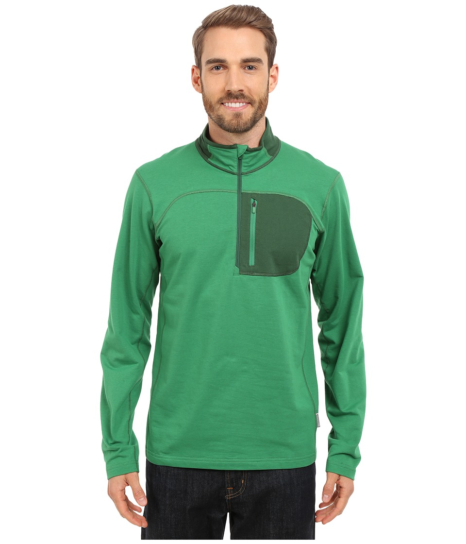 Mountain Hardwear - Cragger 1/2 Zip Top (Serpent Green) Men's Long Sleeve Pullover