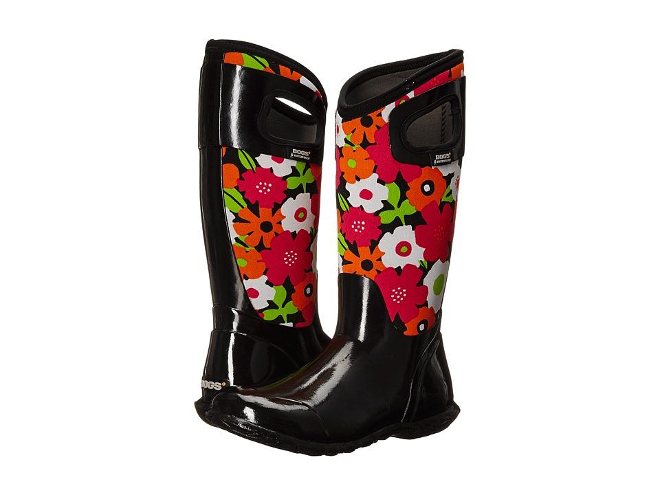 Bogs - North Hampton Spring Flowers (Black Multi) Women's Rain Boots