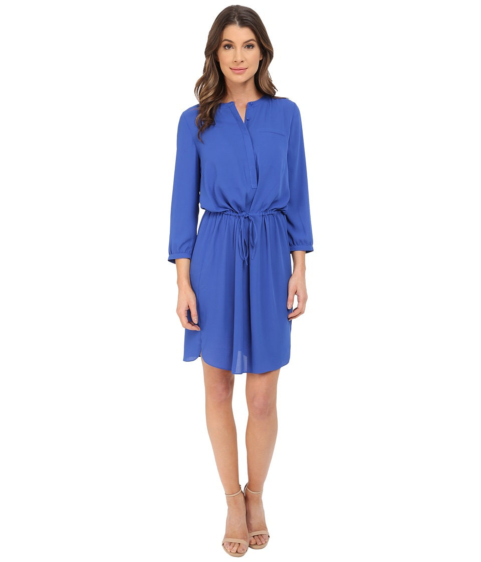 NYDJ - Lauren PLeat Back Dress (Azul) Women's Dress