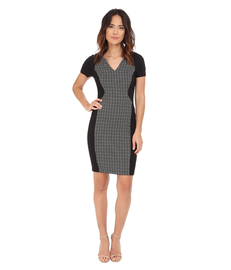 NYDJ - Sonya Grid Jacquard Dress (Black /White Grid) Women's Dress