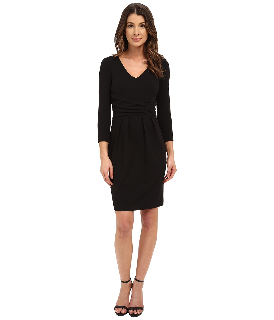 NYDJ - Andrea Stretch Crepe Dress (Black) Women's Dress