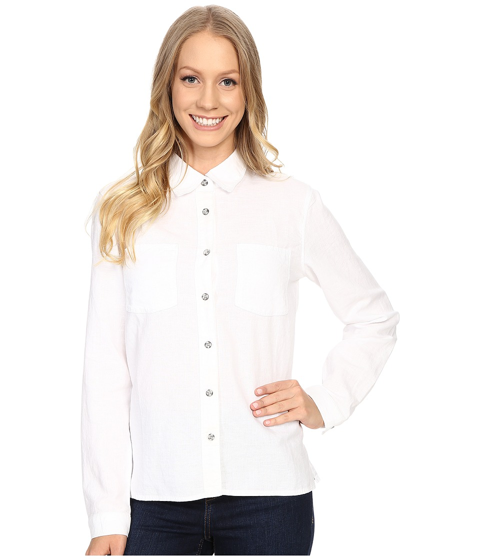 Mountain Hardwear - Bridger Long Sleeve Shirt (White) Women's Long Sleeve Button Up