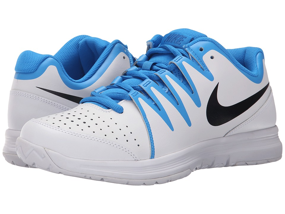 Nike - Vapor Court (White/Photo Blue/Black) Men's Tennis Shoes