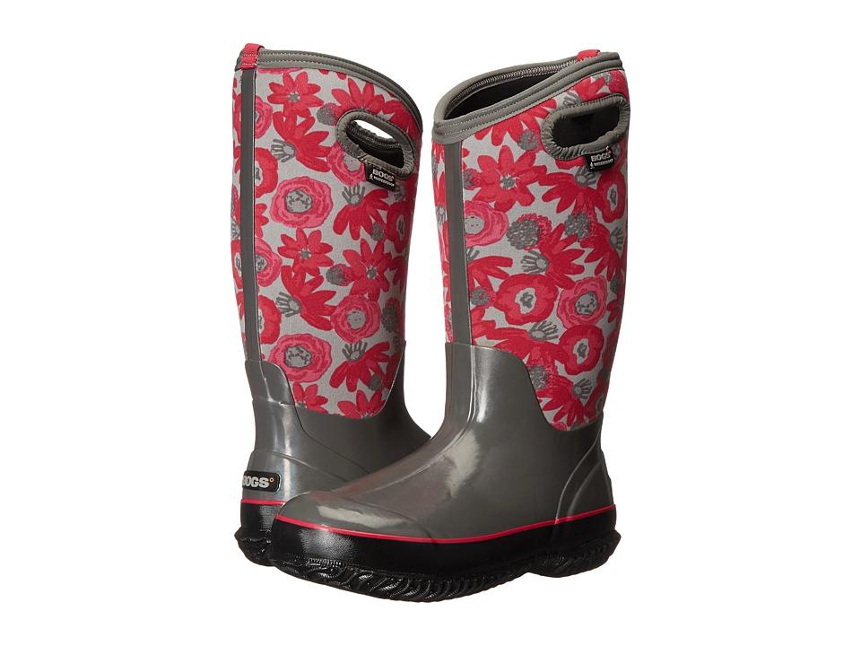 Bogs - Classic Watercolor Tall (Gray Multi) Women's Rain Boots