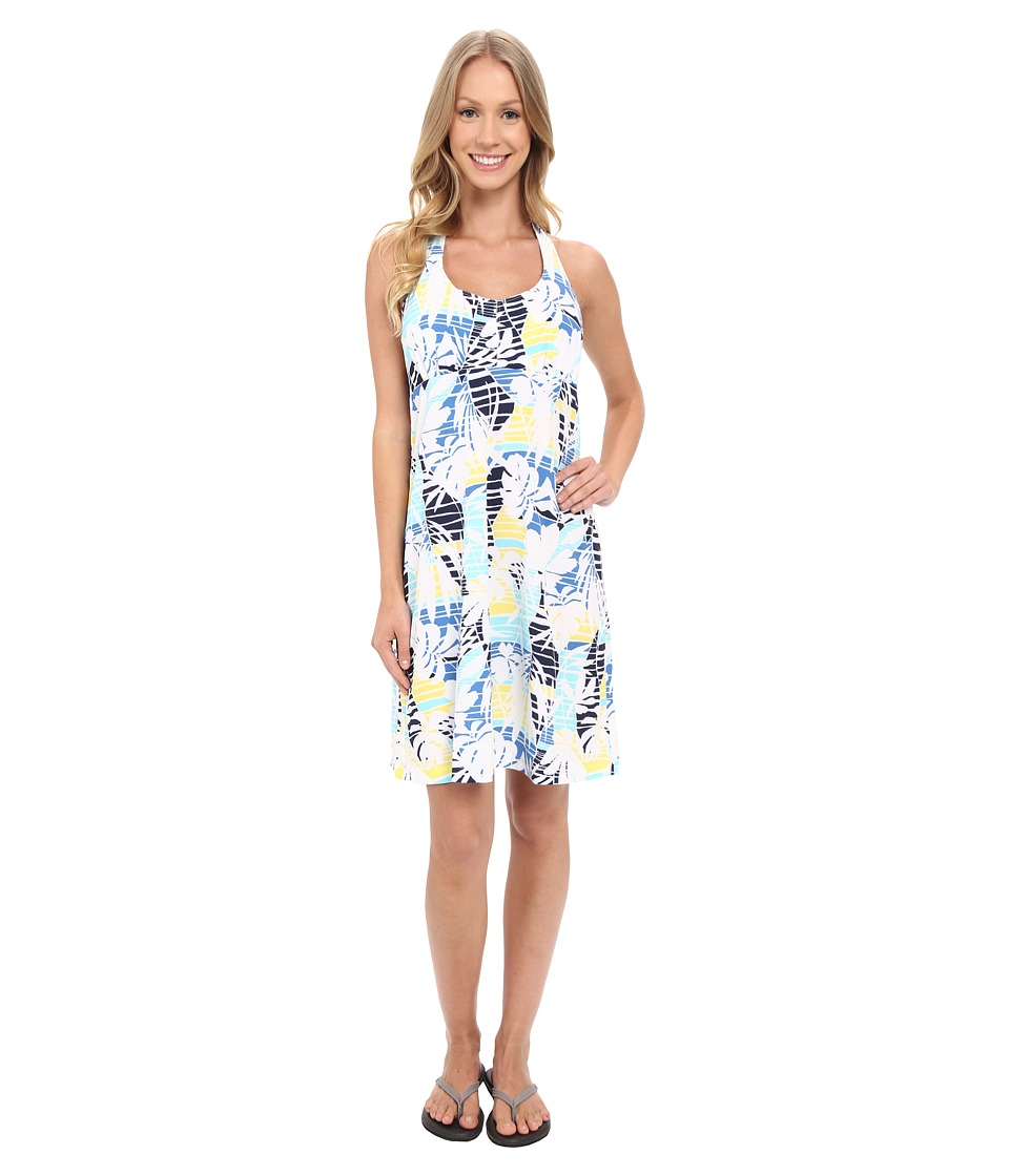 Columbia - Armadale Halter Top Dress (Stormy Blue Palm Print) Women's Dress