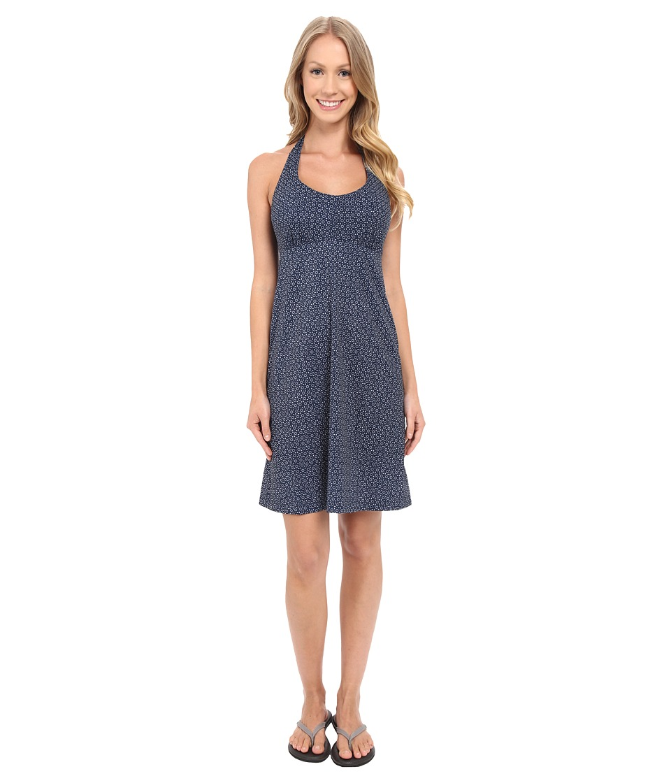 Columbia - Armadale Halter Top Dress (Collegiate Navy Floral Lace Print) Women's Dress