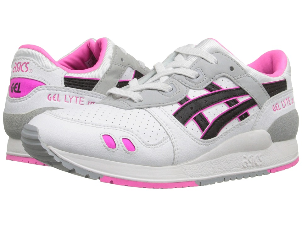 Onitsuka Tiger Kids by Asics - Gel-Lyte III PS (Little Kid) (White/Black) Girls Shoes