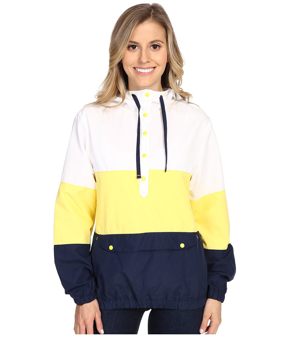 Columbia - Harborside Windbreaker (Buttercup/White/Collegiate Navy) Women's Long Sleeve Pullover