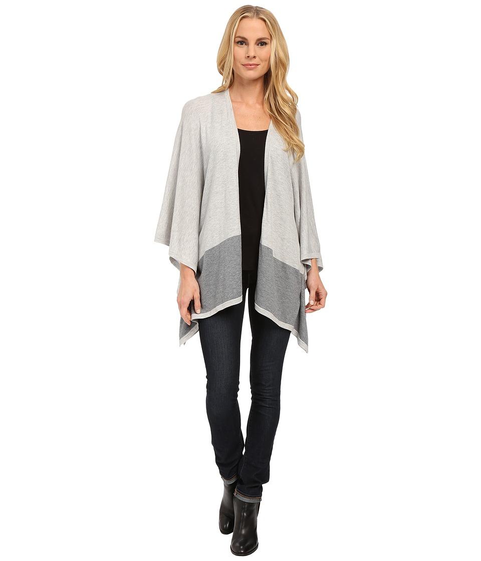 NYDJ - Blanket Sweater Cardigan (Light Heather Gray/Heather Gray) Women's Sweater