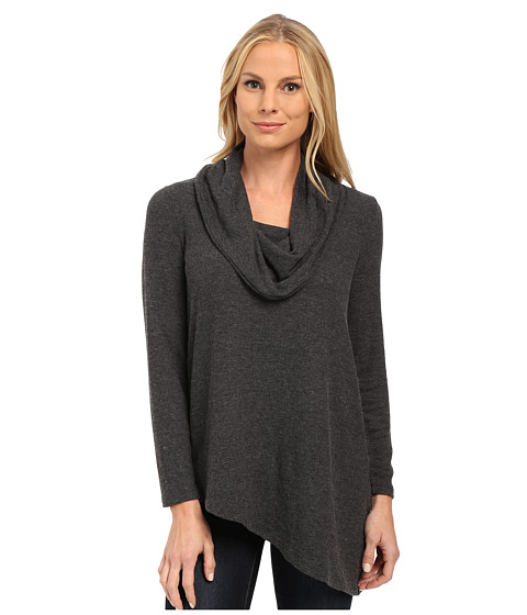 NYDJ - Cozy Constance Cowl Neck (Charcoal) Women's Clothing