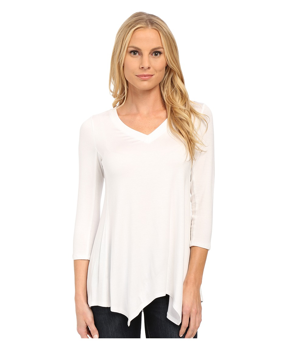 NYDJ - Novelty Scarf Hem Top (Optic White) Women's T Shirt