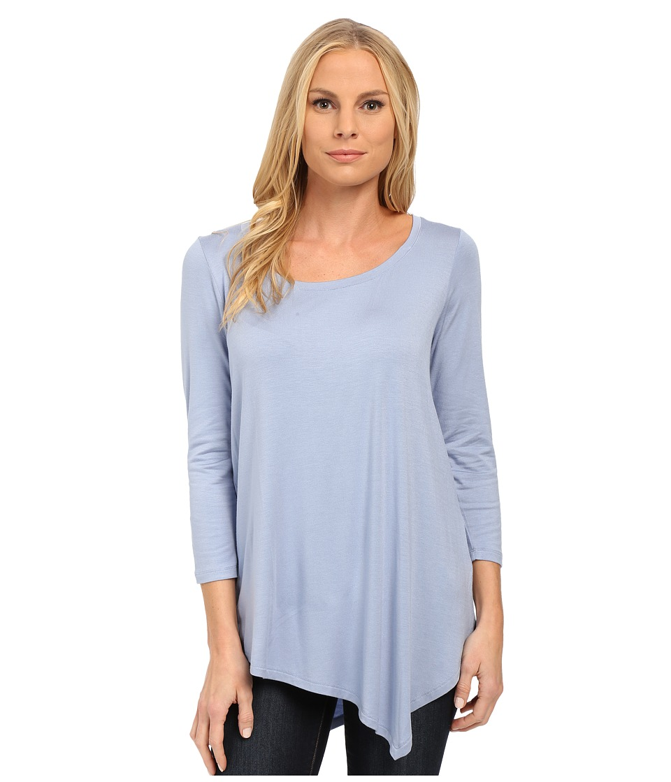 NYDJ - City/Sport Leah Basic 3/4 Sleeve Tee (Dusty Slate) Women