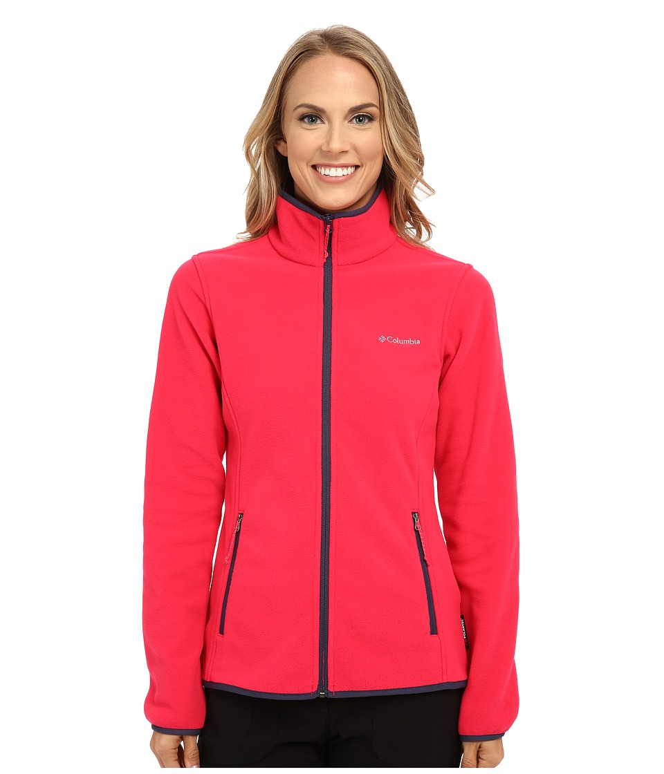 Columbia - Fuller Ridge Fleece Jacket (Ruby Red Nocturnal) Women's Coat