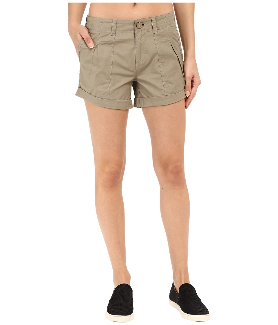 Mountain Hardwear - Wandering Solid Shorts (Khaki) Women's Shorts