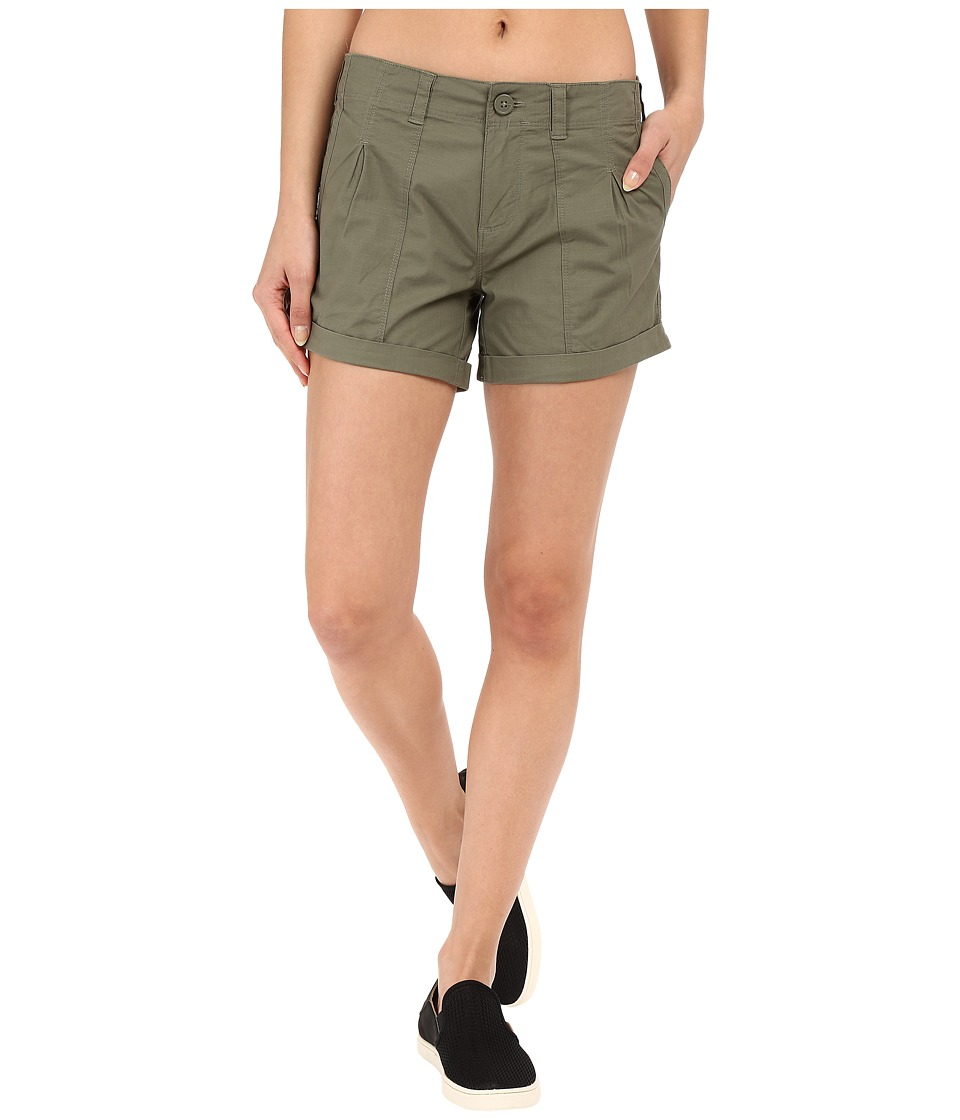 Mountain Hardwear Wandering Solid Shorts (Stone Green) Women