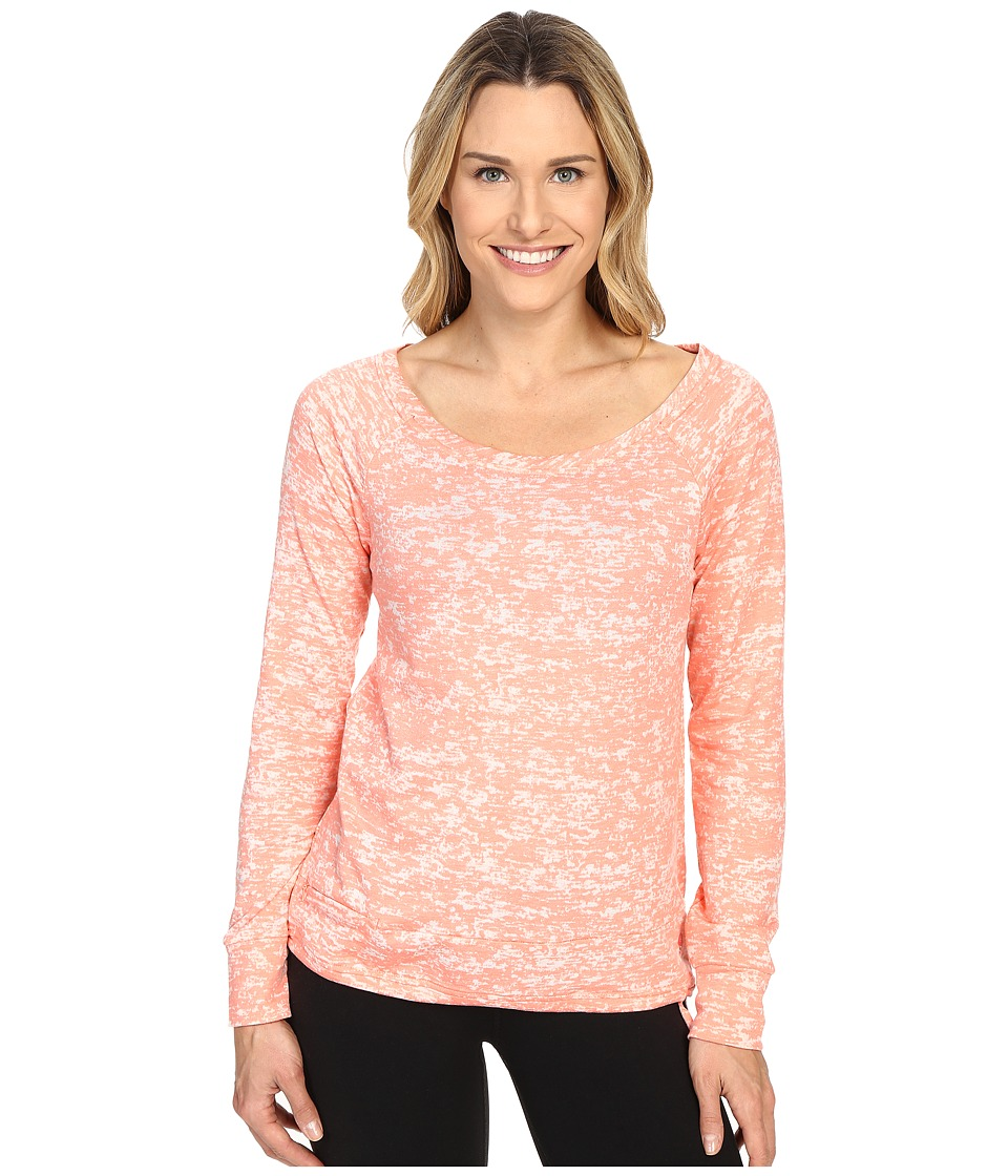 Mountain Hardwear - Burned Out Long Sleeve Pullover (Heather Coralescent) Women's Long Sleeve Pullover
