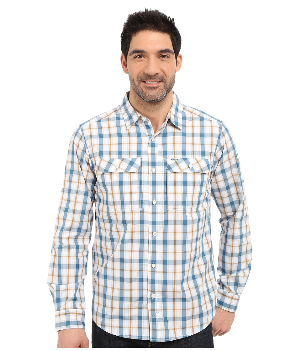 Mountain Hardwear - Canyon Plaid L/S Shirt (White) Men's Long Sleeve Button Up