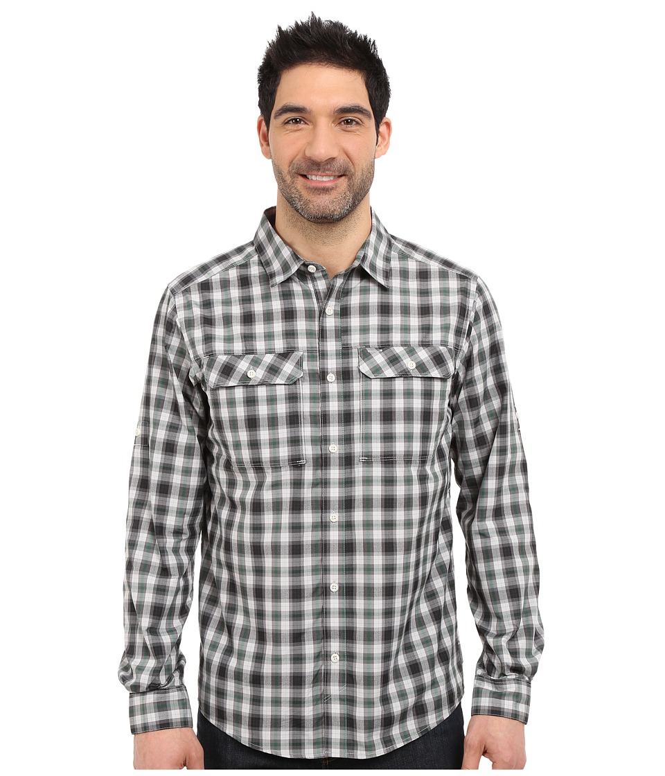 Mountain Hardwear - Canyon Plaid L/S Shirt (Grey Ice) Men's Long Sleeve Button Up