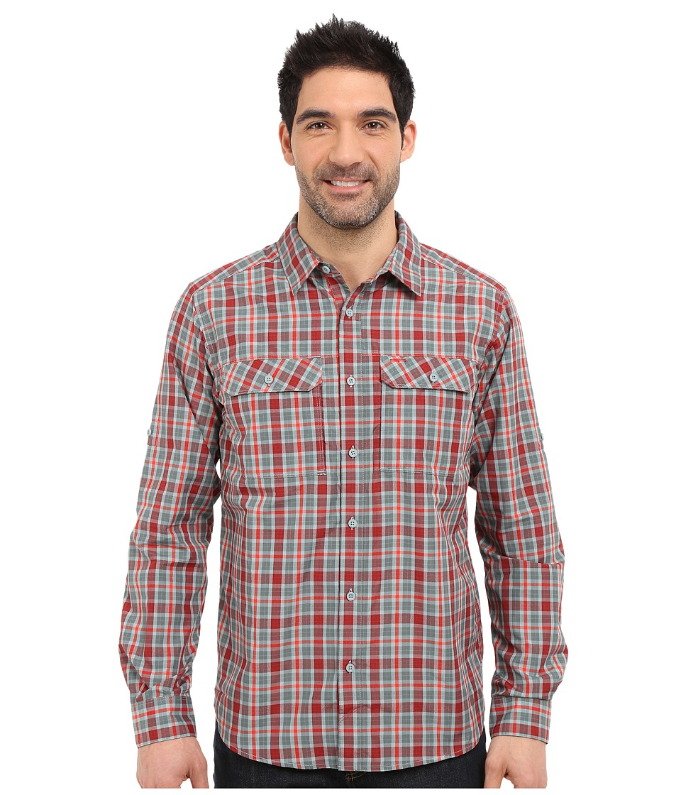 Mountain Hardwear - Canyon Plaid L/S Shirt (Thunderhead Grey) Men's Long Sleeve Button Up