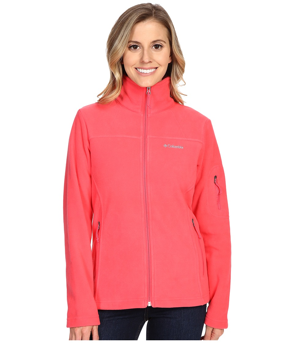 Columbia - Fast Trek II Full-Zip Fleece Jacket (Bright Geranium) Women's Coat