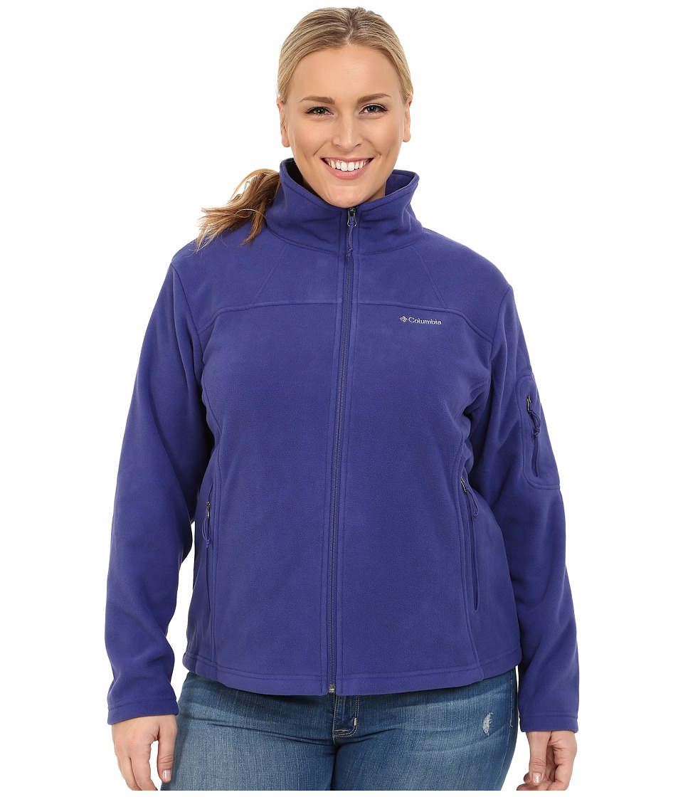 Columbia - Plus Size Fast Trek II Full Zip Fleece Jacket (Skyward) Women's Coat