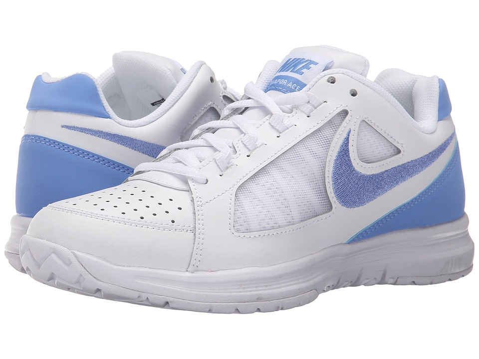 Nike - Air Vapor Ace (White/Stealth/Chalk Blue) Women's Tennis Shoes