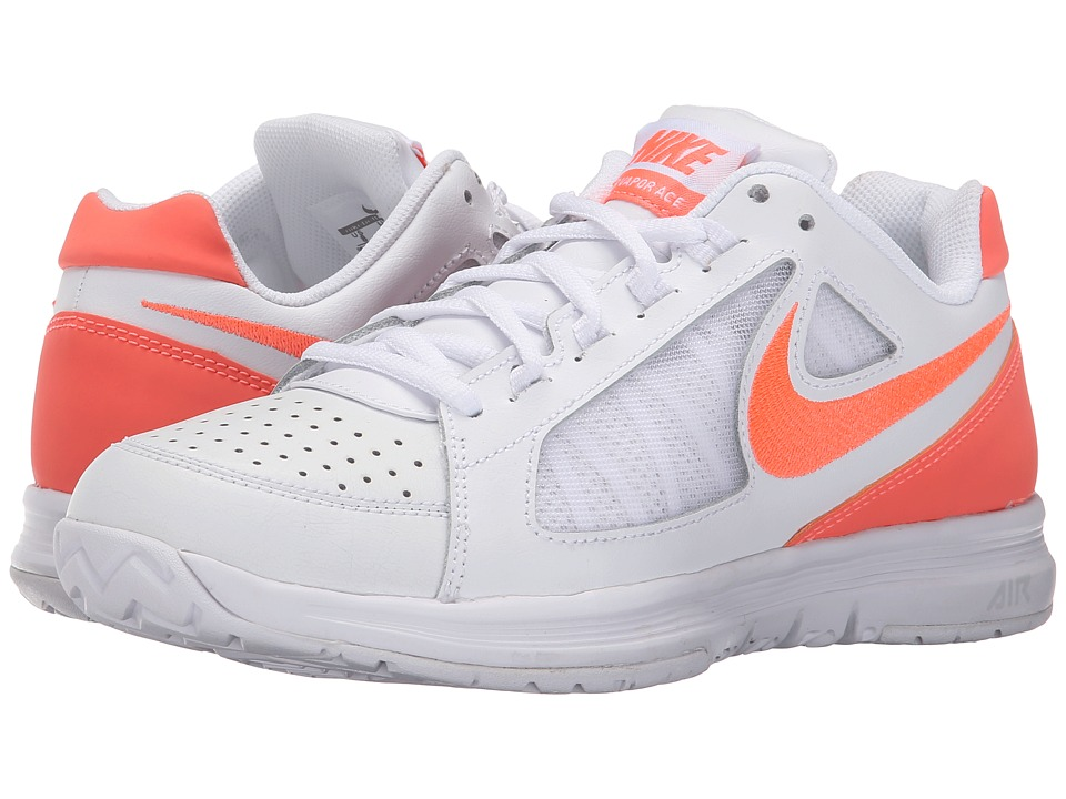 Nike - Air Vapor Ace (White/Stealth/Bright Mango) Women's Tennis Shoes