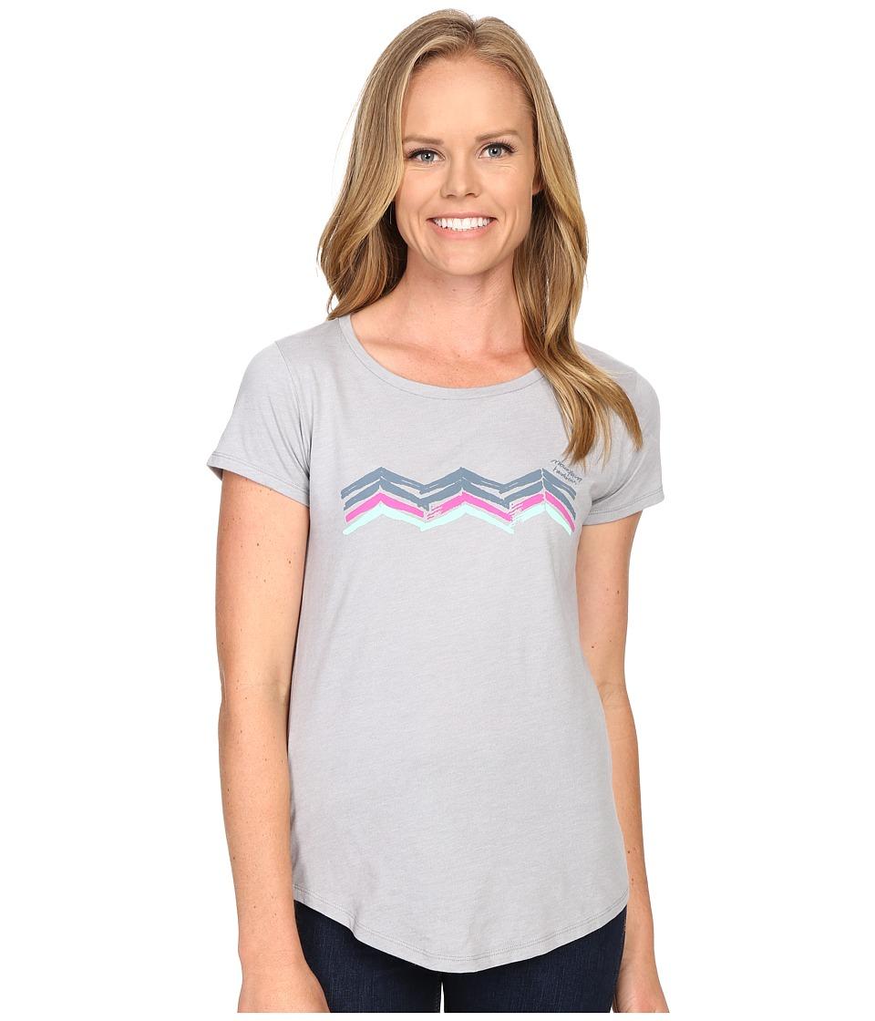 Mountain Hardwear - Abstract Mountain Short Sleeve Tee (Heather Grey) Women's Short Sleeve Pullover