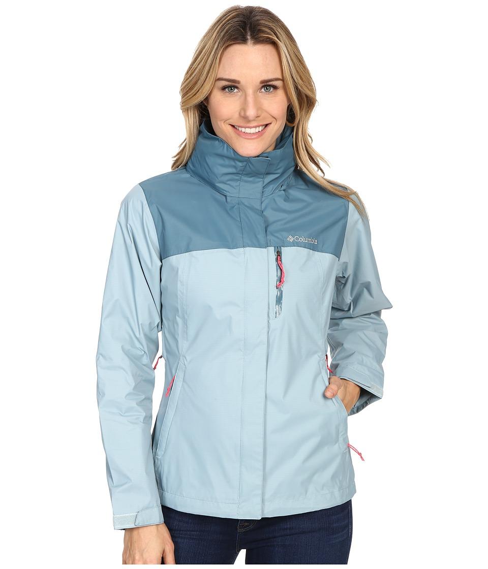 Columbia - Pouration Jacket (Stone Blue/Cloudburst) Women's Coat