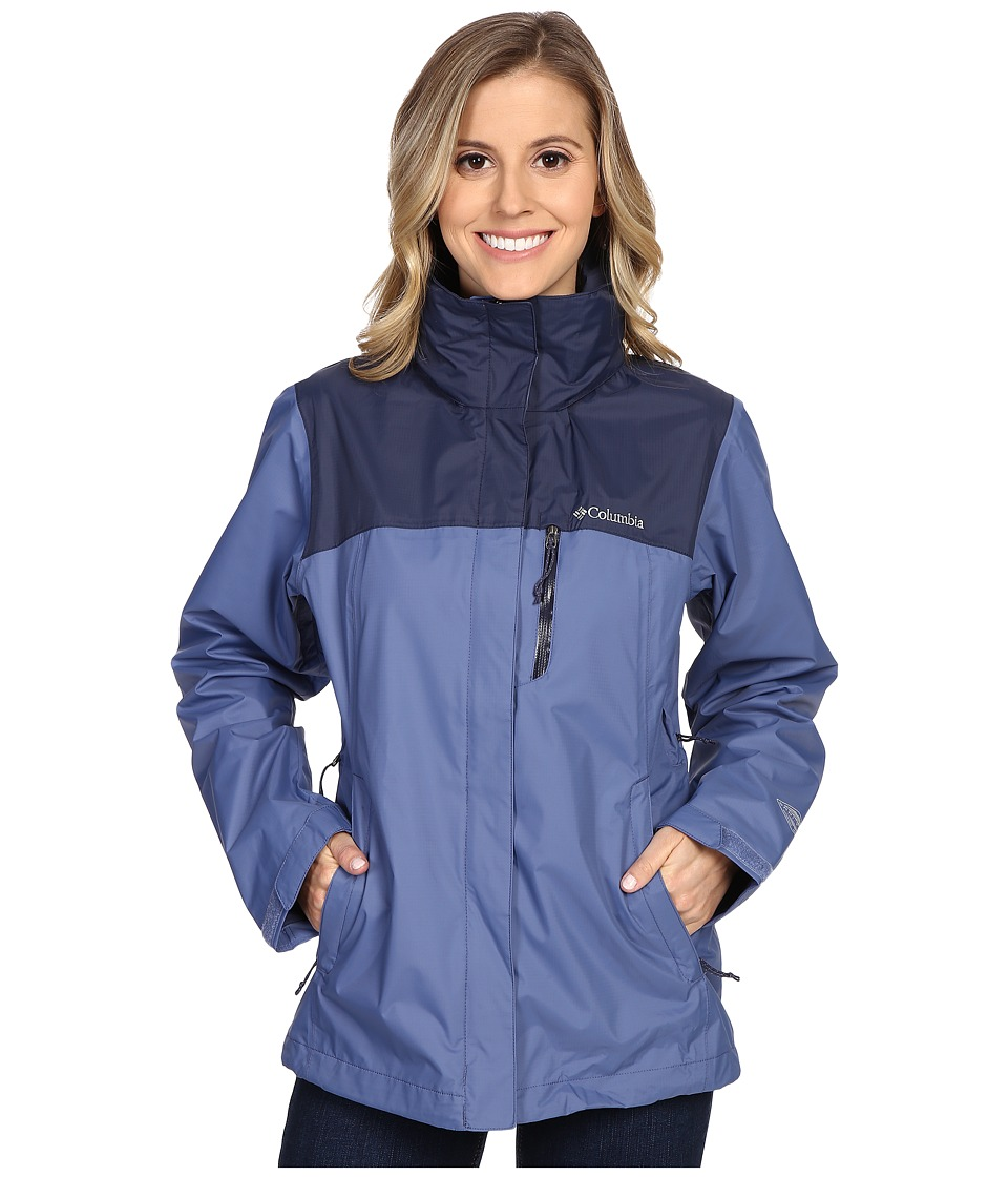 Columbia - Pouration Jacket (Bluebell/Nocturnal) Women's Coat