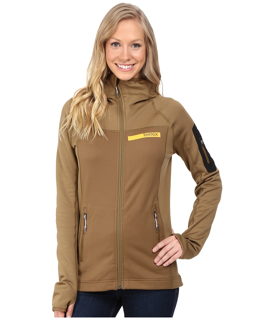 adidas Outdoor - Terrex Stockhorn Fleece Hoodie (Earth) Women's Sweatshirt
