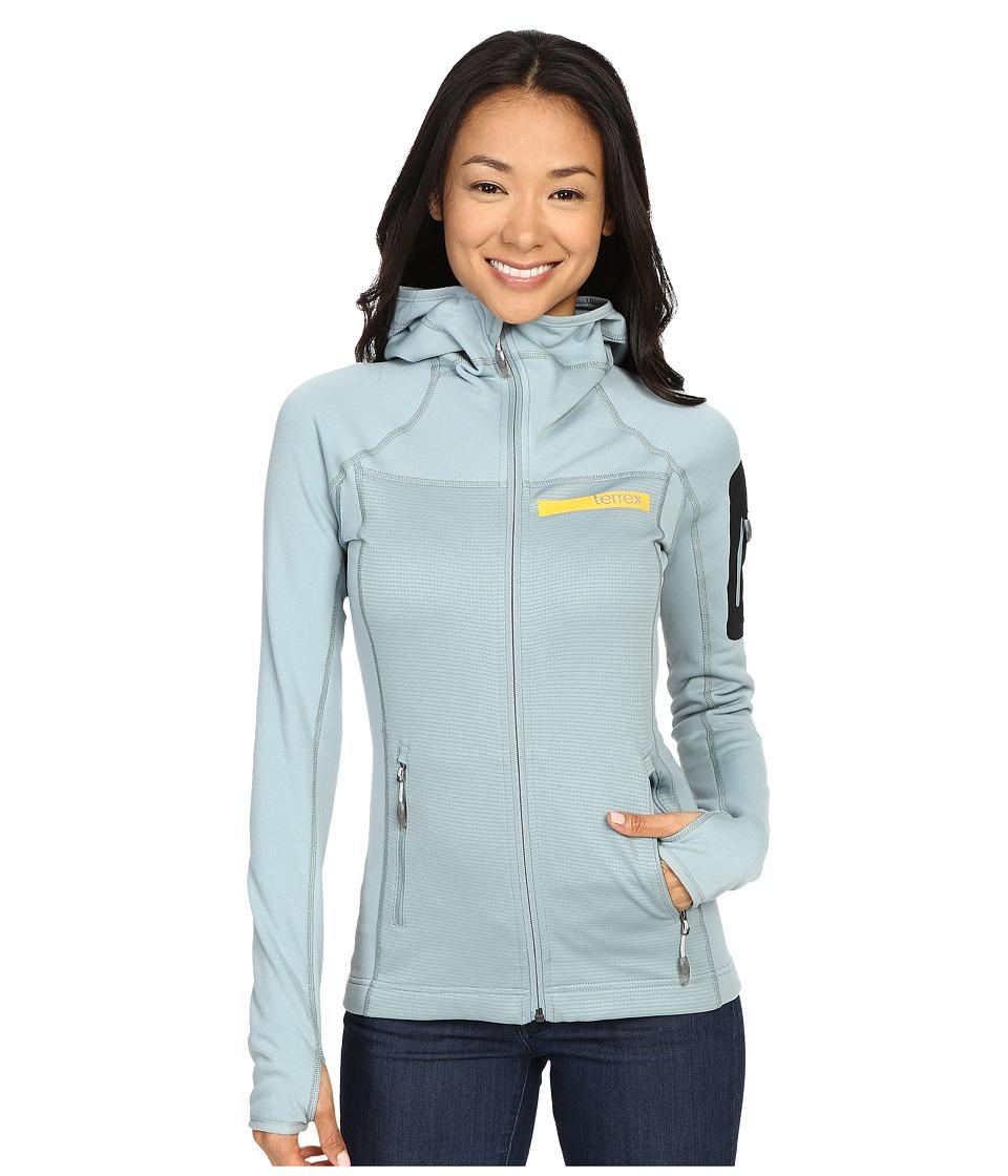 adidas Outdoor - Terrex Stockhorn Fleece Hoodie (Green Earth) Women's Sweatshirt