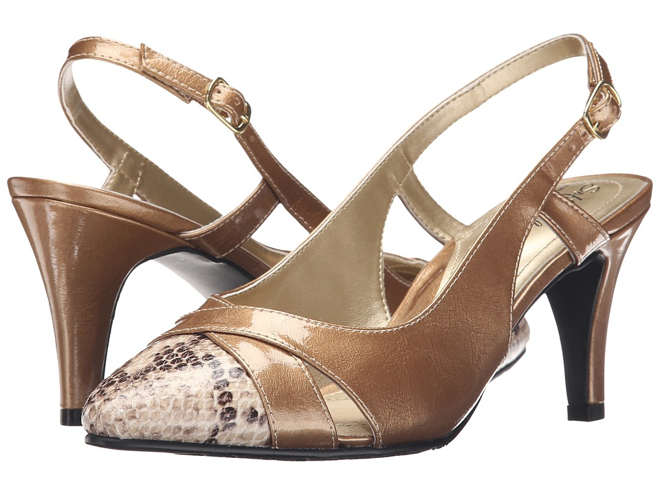 Soft Style - Rielle (Taupe Pearlized Patent/Python) High Heels