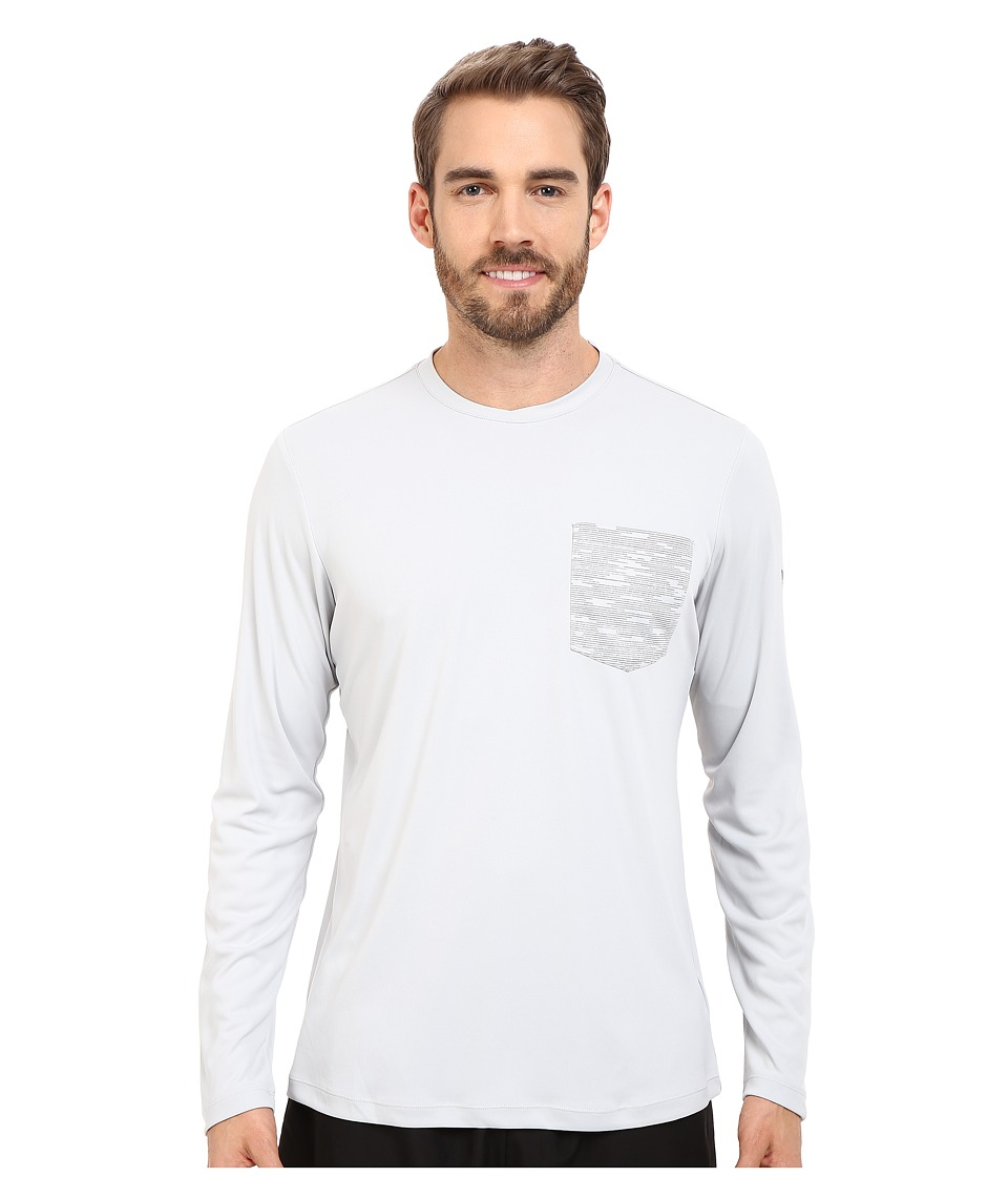 Mountain Hardwear - River Gorge L/S Crew (Grey Ice) Men's Long Sleeve Pullover